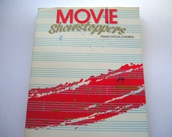 Vintage Book|Music Book|Sheet Music|Movie Showstoppers|Classic Movie Songs|Piano|Vocal|Chords|Belwin Inc. - 1990|Over 100 Songs