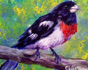 Ready to Fly original acrylic painting