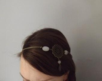 "original headband ""fadilah"" rose quartz and brass"