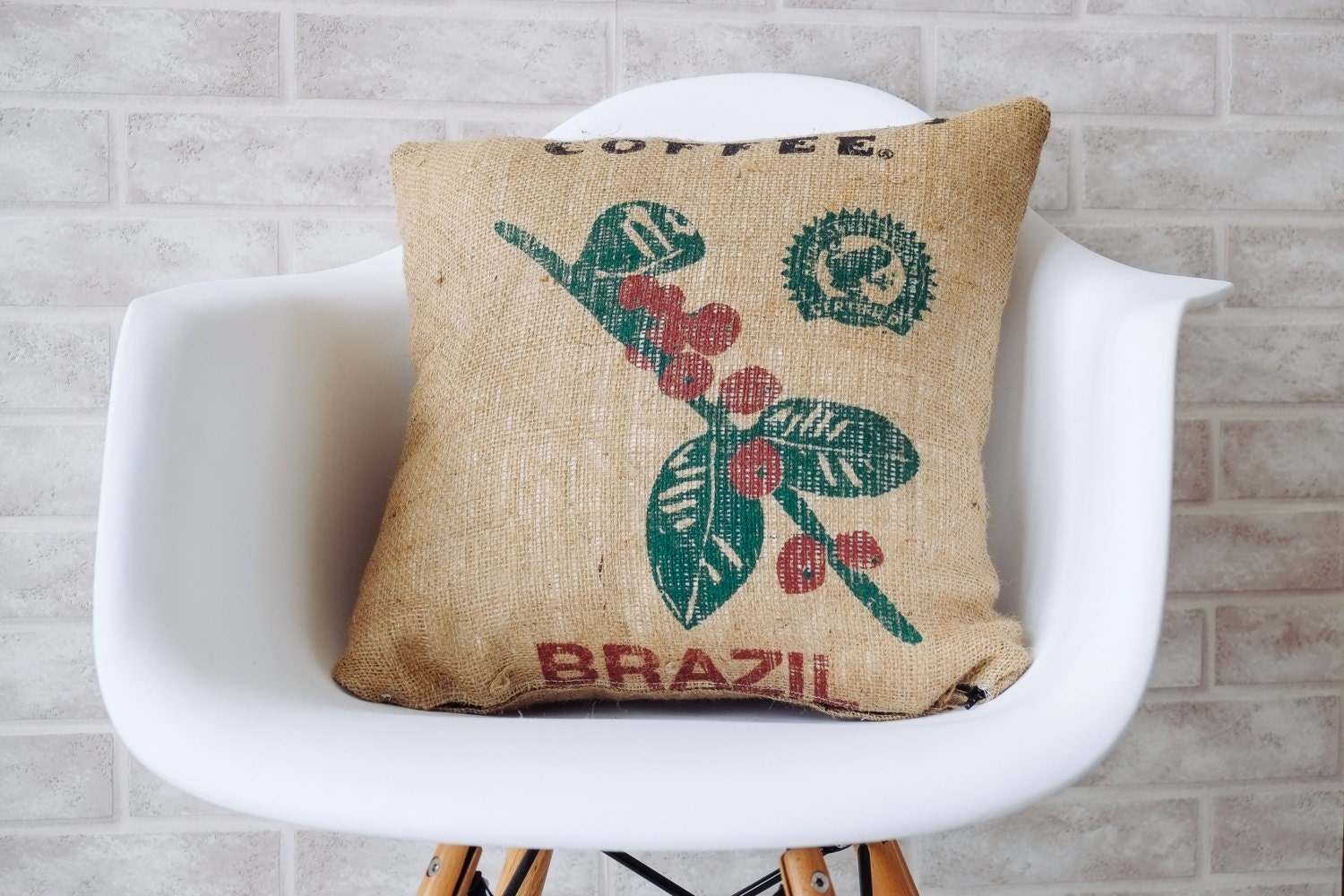 Decorative Burlap Pillow Covers : Burlap pillows decorative pillow throw pillow cover