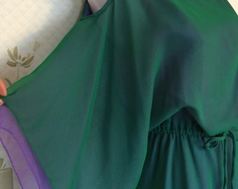 Lillie Rubin Purple and Green Party Dress