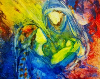 "Prophetic Christian Art Print of the Nativity ""He Has Come"""