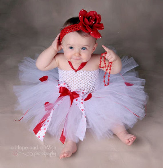 Little Valentine Princess Luxe Hearts Baby Tutu Dress