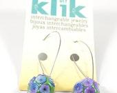 Flower Cluster custom Klik snaps with Klik Leverback Earring bases