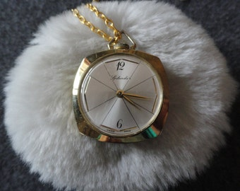 Swiss Made Splendor Necklace Pendant Wind Up  Watch