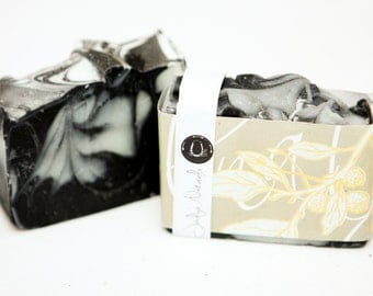 Black Licorice Soap, Cold Process Vegan Soap, Activated Bamboo Charcoal, Star Anise Essential Oil, Hand crafted, Victoria, BC