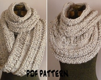 KNITTING PATTERN FOR A SNOOD SCARF   KNITTING PATTERN