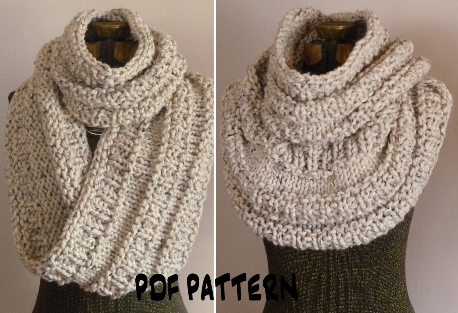 Knitting Pattern For Chunky Infinity Scarf : Chandeliers & Pendant Lights