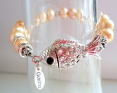 Little fish magnetic clasp for freshwater pearl bracelet from Bijouxgeisha