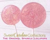 Pink and Purple Favors, Princess Lollipops, Wedding Favors, Hard Candy Lollipops, Candy, Lollipops, Sweet Caroline Confections-Set of Six