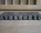 Vintage Metal Stamp Set in Box – Metal Stamp Numbers - Young Bros 1/4 Inch Gothic – Vintage Printing – Metal Number Stamps by Vintassentials