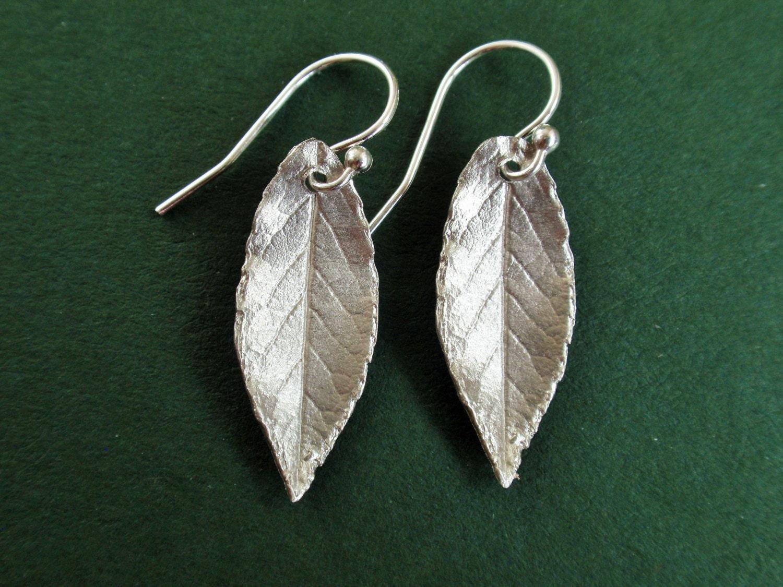 Sterling Silver Earrings Sterling Silver Leaf Earrings
