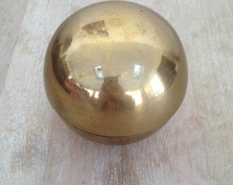 Vintage Brass Sphere Container