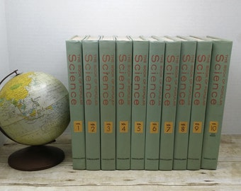 The Book of Popular Science, volumes 1-10, 1971,  library collection, encyclopedia