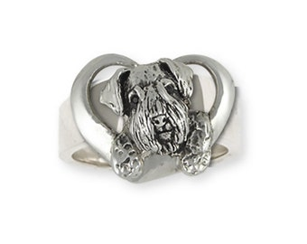 Sterling Silver Sealyham Terrier Dog Ring Jewelry  SEM3-R