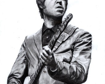 Noel Gallagher Pencil Drawing (Print)