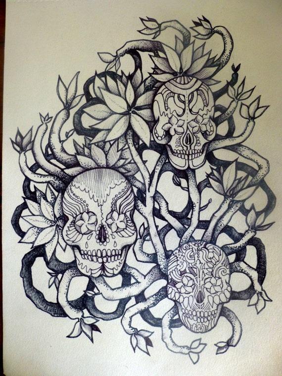 Frangipani Tree Drawing Tattoo Frangipani Tree Art