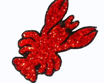 10% off with the code BDAY10  Rockabilly Nautical Lobster Love Glitter Hair Clip