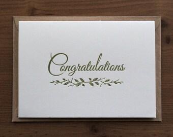 Congratulations… Letterpress Notecard