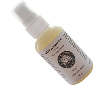 Ultra Clear Emu oil 60 ml / 2 oz. Grade A. Fully Refined. Proven 45% more effective.