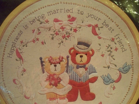 Best friends wedding vintage crewel embroidery kit
