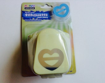 New For Scrapbooking & Cards Clever Lever Craft Paper Punch by Marvy Uchida Heart Ribbon Buckle