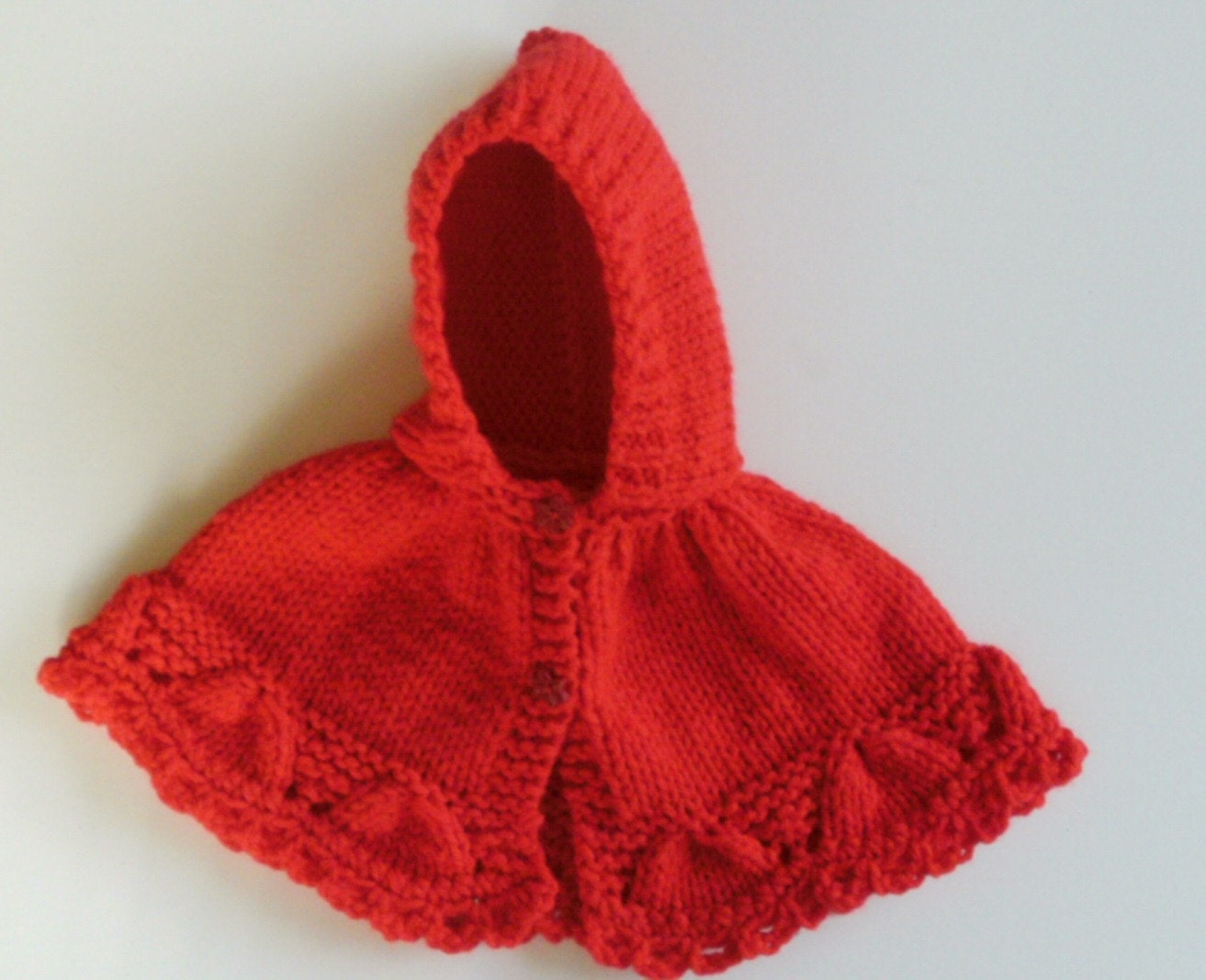 Red Cape Knitting Pattern : Knitting Pattern. Holiday Cape Little Red Riding Hood for