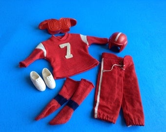Vintage Mattel Ken Doll Touchdown Football Uniform