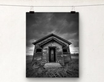 Rustic School House, Fine Art Photography, Alberta Prairies, Gothic