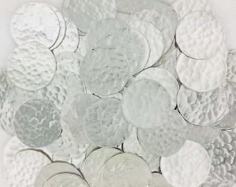 1 Inch 22 Gauge Sterling Silver Disc - HAMMERED_1 - 25 PCS