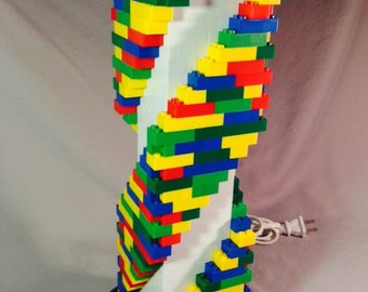 Lego Lamp - XL Multicolored Spiral Staircase Lamp