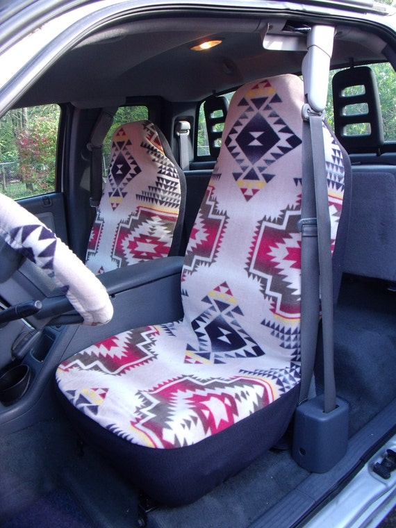 1 Set of  Windrunner Tan Print Seat Covers and Steering Whee Cover Custom Made.