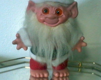 "LARGE 8""  Vintage Santa Troll BANK -  RARE and Hard to Find"