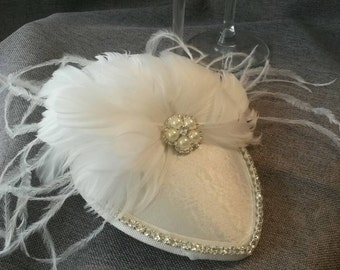 White  Bridal Fascinator Hat