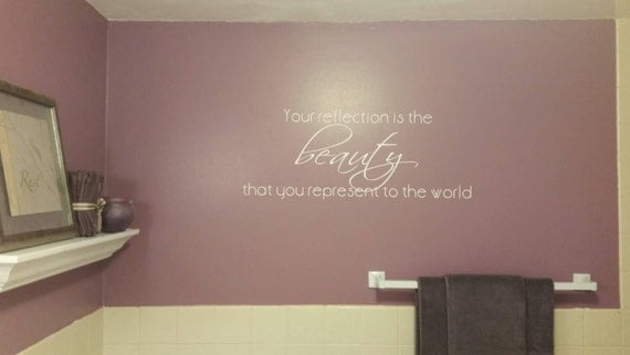 Bathroom Quote Decal Bible Verse Decal Wall Decals