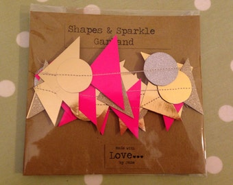Shapes & sparkle card garland