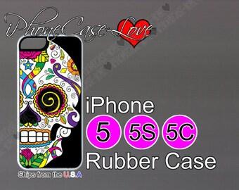 iphone 5 case - iphone 5s case - iphone 5c case -  sugar skull iphone 5 case - sugar skull iphone 5s case  - sugar skull iphone 5c case - S9