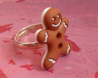 GingerBread Man Adjustable Ring