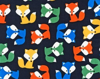 Urban Zoologie Fox in Park by Ann Kelle for Robert Kaufman - 1 yard increments