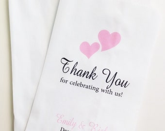 Thank You For Celebrating With Us Candy Buffet Favor Bags, Wedding Candy Bags, Gift Bag, Candy Bar Bags