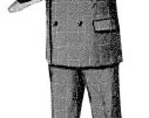 AG1309M  - 1897 Man's Double Breasted Suit Pattern by Ageless Patterns