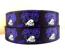 "TCU Horned Frogs 1"" Grosgrain Craft Ribbon - 3 Yards"