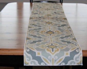 """Table Runner with Premier Prints Harford Macon Fabric 72"""""""