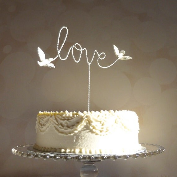 Wire Cake Topper Love Cake Topper Wire Love Wedding Cake