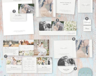 Wedding Photography Marketing Set - Photoshop templates- LG026 - INSTANT DOWNLOAD