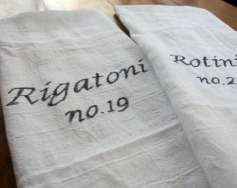 "Kitchen Towels- Pasta set of 2 -16""x29"""