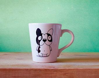Dog Coffee Mug Cute Frenchie! by Paopao