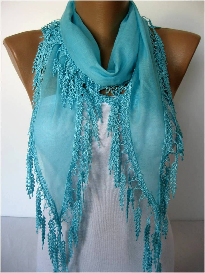 light blue scarf scarves guipure gift ideas for