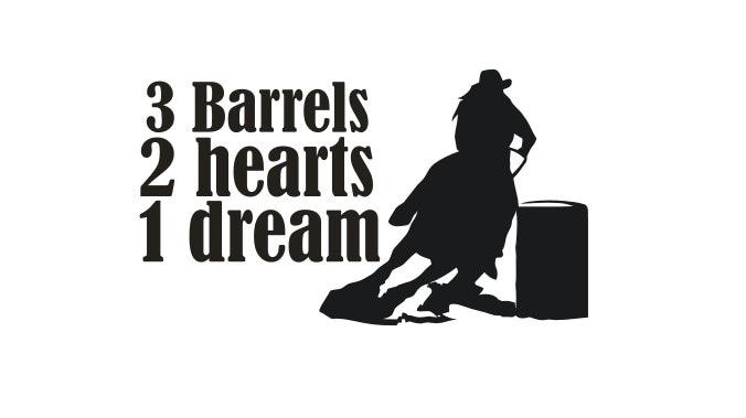 barrel racing decal - photo #6