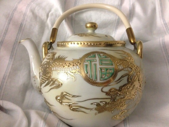 Mid Century Porcelain Teapot Made In Japan Teapot Vintage